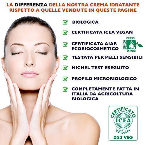 Florence Organics - Crema Facial con Retinol, Vitamina E, Aceite de Jojoba, Ácido Hialurónico Puro - Hidratante Antiedad Para Rostro Cuello y Escote - Reduce Arrugas y Líneas Finas Para Hombre y Mujer