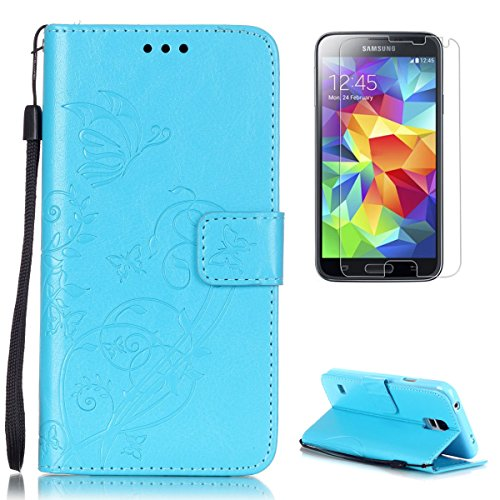 casehome-samsung-galaxy-s5-case-with-free-screen-protectorembossed-pu-leather-folio-book-style-flip-