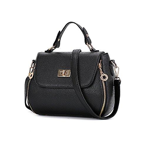Frauen Schulter Messenger Bag Mini ClassicBlack