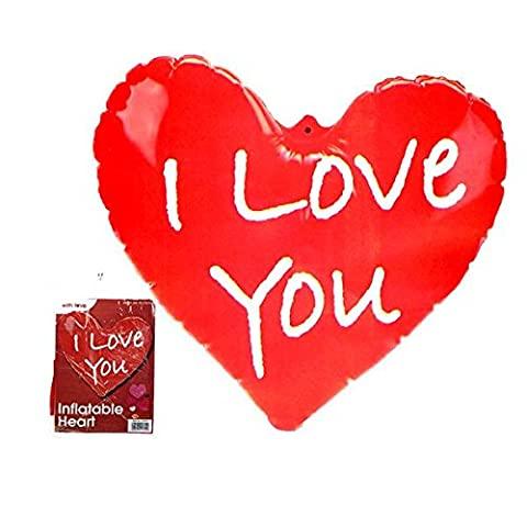 3 x Inflatable 'I Love You' Heart - Valentines Mothers Day Anniversary Gift.