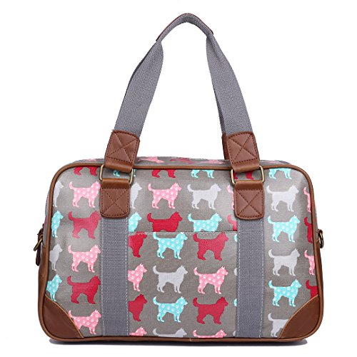 miss-lulu-damen-wachstuch-handtasche-schultertasche-tasche-handbag-shoulder-bag-gepunktet-eule-blume