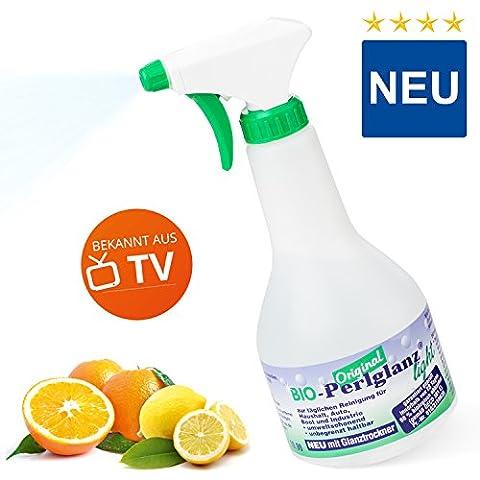 Perlglanz Bio Light 500 ml – Reinigungsmittel für alle Oberflächen | Putzmittel für Küche, Bad, Haushalt, Auto, Freizeit | Fettlösendes und schonendes Mittel zur täglichen Reinigung