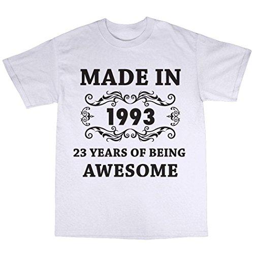 Made In 1993 T-Shirt 100% Baumwolle Weiß