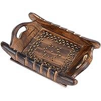rusticiy de madera bandeja para servir – envejecido meshwork | hecho a mano |small |