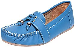 Bare Soles Womens Blue Synthetic Loafers - 6 UK
