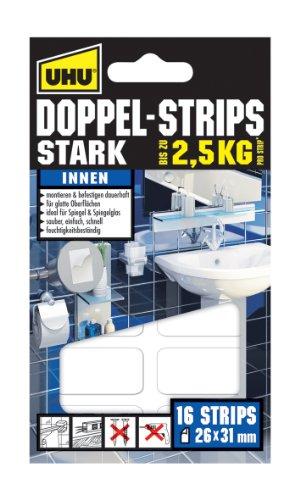 uhu-45380-doppel-strips-stark-bis-zu-25-kg-16-stuck-26-mm-x-31-mm