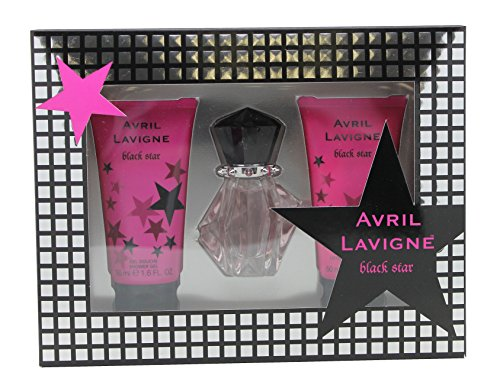 Avril Lavigne Black Star Geschenkset Eau de Parfum 15 ml, Shower Gel 50 ml, Body Lotion 50 ml