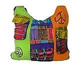 TATTOPANI Mesdames Hippie sac d'épaule de style à long multicolore