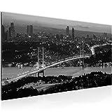 Bilder Istanbul Türkei Wandbild 100 x 40 cm Vlies - Leinwand Bild XXL Format Wandbilder Wohnzimmer Wohnung Deko Kunstdrucke Grau 1 Teilig -100% MADE IN GERMANY - Fertig zum Aufhängen 603812c