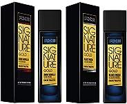 AXE Signature Gold Dark Vanilla and Oud Wood Perfume, 80ml & AXE Signature Gold Black Musk and Cedar Wood Perfume, 80ml