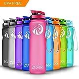 Best Bouteilles BPA eau libre - ZORRI Bouteille d'eau de Sport 20oz/1000ml - sans Review