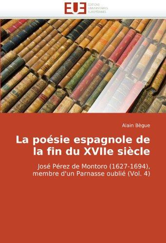 La poésie espagnole de la fin du XVIIe siècle