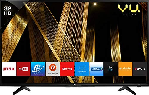 VU 80 cm (32 Inches) HD Ready Smart LED TV 32 (Black) (2019 Model)