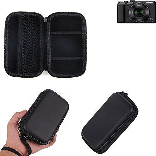 K-S-Trade Caso Duro, Estuche para cámara compacta Nikon Coolpix A900, Bolsa/Funda rígida con Espacio para jaulas de Memoria, batería de Repuesto, Cargador de Jaula, etc. | Prueba del Choque