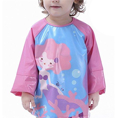 Kunst Und Handwerk Kostüm - Biofieay Kinder Malschürze Langarm Wasserdicht Lätzchen Essen Kunst Handwerk Bemalen Spielen für Mädchen Jungen 1-6 Jahre