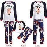Weihnachten Pyjama Cartoon Schwein Brief drucken Family Schlafanzug Familie Weihnachts Xmas Weihnachtspyjama Nachtwäsche Hausanzug Sleepwear Sweater Set Damen Herren Kinder Mädchen Jungen Baby