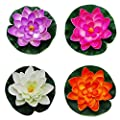 NiceButy Floating Pond Decor Water Lily/Lotus Foam Flower, Small (Set of 4)