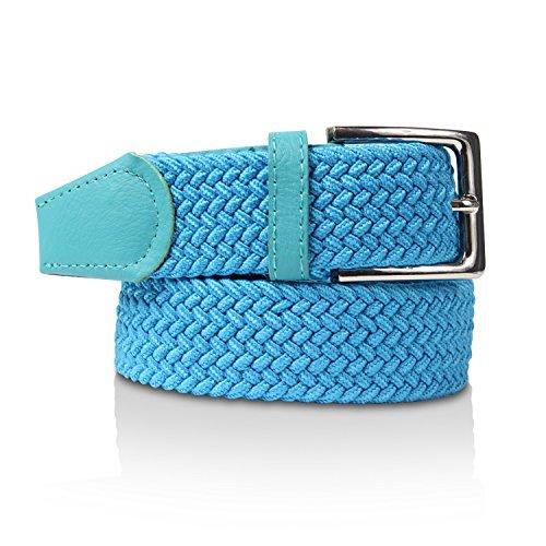 Glamexx24 Cintura Intrecciata Nastro Estensibile da Uomo e da Donna Unisex