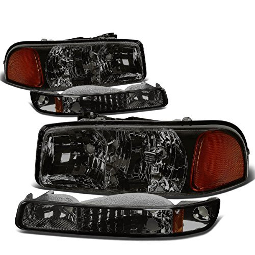 gmc-sierra-yukon-gmt800-headlight-bumper-light-assembly-kit-smoke-lens-amber-reflector-by-auto-dynas