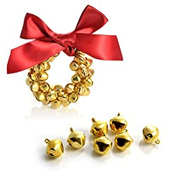 "20er SET mini ""Glöckchen"" Bastel Glocken Farbe gold, bells, Weinachtglocken zum basteln, Silverbells, Marke YOUZiNGS"