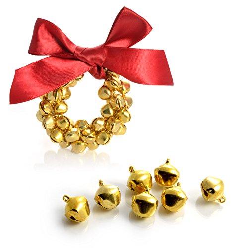 "100er Set Mini ""Tink colore oro Craft Campane, campanelli, Bell Tinker, Argento Campane di Natale, marca YOUZiNGS"