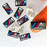 10 Stück M Power Sport Felgen Tacho Lenkrad 3D Emblem Auto Aufkleber Sticker ///M M3 M5 M6 M