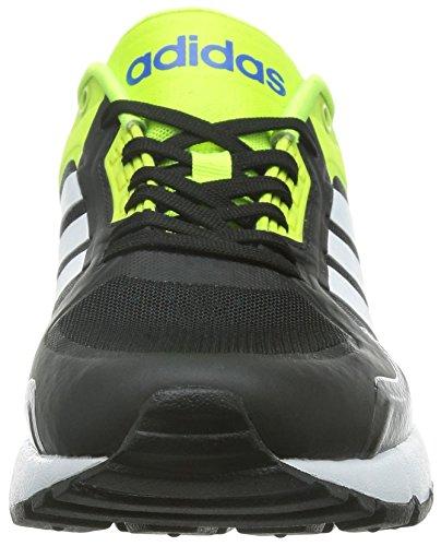 adidas Run9tis Tm, Chaussures de Sport Homme Noir / blanc / jaune (noir essentiel / blanc Footwear / jaune solaire)