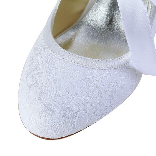 Jia Jia Wedding 14031 Hochzeitsschuhe Brautschuhe Damen Pumps weiß, EU 35 -