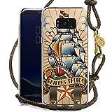 DeinDesign Samsung Galaxy S8 Plus Carry Case Hülle zum Umhängen Handyhülle mit Kette Schiff Anker Anchor
