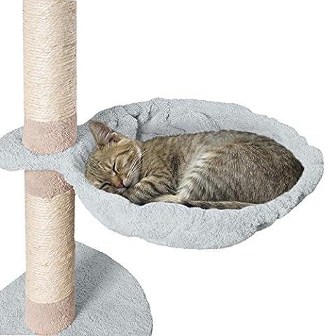 Happypet Liegemulde für Kratzbaum Schlafmulde Zubehör für Katzen Ø 35 cm Grau