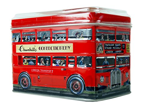 English Cream Toffees Double - Decker Bus - Traditional Dairy Cream Toffees in Metal Money Box Tin