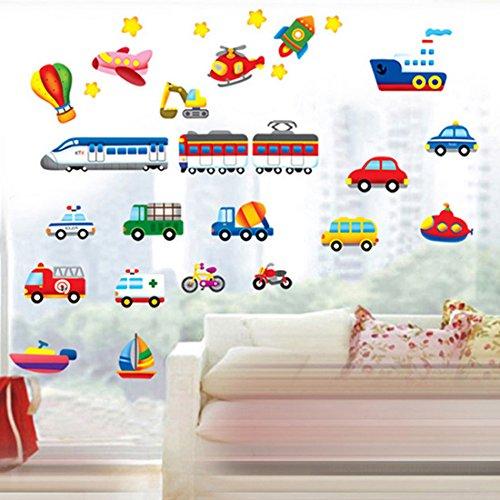 Cartoon Cars treni Navi barche palloncino parete