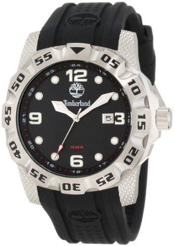 Timberland Gents Belknap Black Rubber Strap Watch 13317JS-02