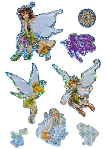 16 tlg. Set 3-D Sticker / Aufkleber - Disney Fairies Tinkerbell - selbstklebend für Kinder Fairy (Disney Tinkerbell Licht)