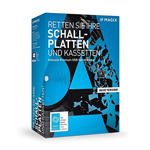 Magix Rette Schallplatten & Kassetten Vollversion, 1 Lizenz Windows Digitalisierungs-Software