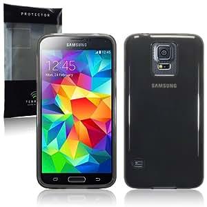 Terrapin TPU Schutzhülle Tasche Case Cover für Samsung Galaxy S5 Transparent Schwarz