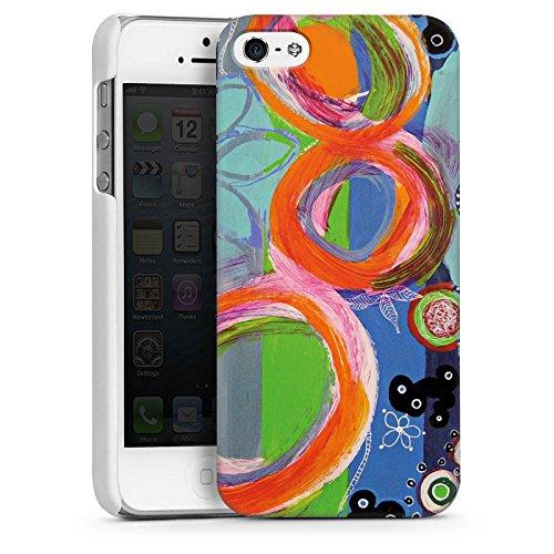 Apple iPhone 5s Housse Étui Protection Coque Abstrait Motif Motif CasDur blanc