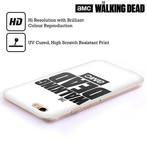 Offizielle AMC The Walking Dead Weiss Logo Soft Gel Hülle für Apple iPhone 6 / 6s Weiss