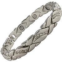 Damen-Magnetarmband mit mit Metalllegierung, vergoldet, wunderschönes Armband, Arthritis-Hilfe preisvergleich bei billige-tabletten.eu