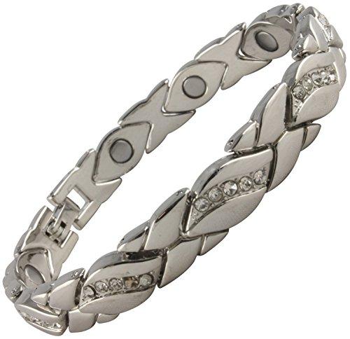 Damen-Magnetarmband mit mit Metalllegierung, vergoldet, wunderschönes Armband, Arthritis-Hilfe