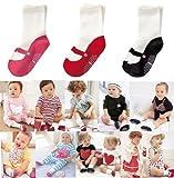 Cheri-3 paires ballet filles chaussettes 6 -24mois antidérapant SLIP soin bébé
