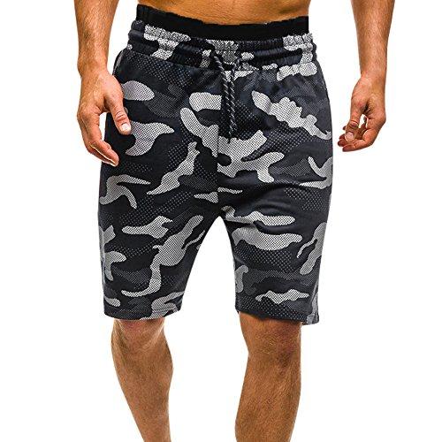 FRAUIT Herren Camouflage Cargo Shorts Männer Sommer Badehosen Badeshorts Camouflage Schwimmhose Schwimmshorts Beachshorts Strand Shorts Kurze Hosen Freizeithosen