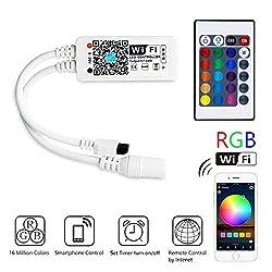 Magic Mini RGB Wifi Controller für LED Strip/Streifen Funktioniert mit Siri, Google Home, IFTTT, und Siri IR Fernbedienung Steuerung, 16 Mio Farben, 20 Dynamische Modi