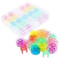 OFKPO Caja de 25 Canillas de Colores, para Brother,Cantante,Elna,Plástico