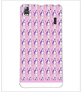 PrintDhaba Girl Pattern D-1567 Back Case Cover for LENOVO A7000 (Multi-Coloured)