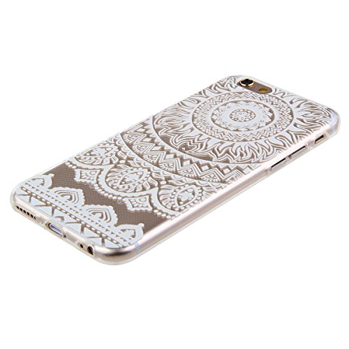 iPhone 6S Plus Hülle, iPhone 6 Plus Hülle, iPhone 6 Plus/ 6S Plus Silikon Crystal Case Hülle mit Malerei Muster, SainCat Weiche Transparent Silikon Schutzhülle Hülle Gel Bumper Soft TPU Case Backcase  persische Blume