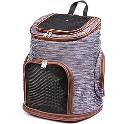 Mochila de Viaje para Mascotas - Bolso de Transporte Perros Gatos - 30 x 24 x 41 cm