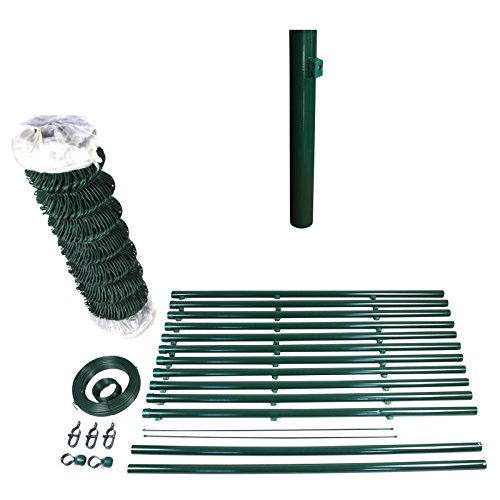 *TOP MULTI Maschendraht-Zaun 1,5m x 15m Rolle in grün Komplett-Set | zum Einbetonieren + Stahldraht verzinkt + Maschenweite 60×60 mm + Höhe & Länge wählbar | Drahtzaun | Garten-Zaun | Viereckgeflecht*