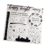 Clear Stamp Silicone Seal For DIY Scrapbook Diary Album Photo T1044 Bright Merry