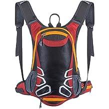 Mochila de ciclismo con soporte para casco, mochila ligera de esquí de 15 l (